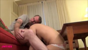 Adorable hot bitch gives her tight booty for hardcore deep anal