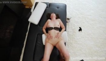 Rough pussy and face fuck ends with with bukkake